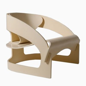 Model 4801 Plywood Armchair by Joe Colombo, Italy, 1965