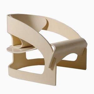Modell 4801 Armlehnstuhl aus Schichtholz von Joe Colombo, Italien, 1965