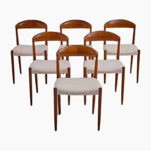 Chaises de Salle à Manger en Teck Massif par Knud Andersen pour J.C.A. Jensen, 1964, ensemble de 6