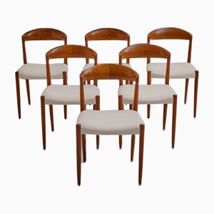 Solid Teak Dining Chairs by Knud Andersen for J.C.A. Jensen, 1964, Set of 6