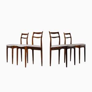 Chaises de Salon Vintage en Palissandre par Johannes Andersen pour Christian Linneberg Møbelkfabrik, Set de 4