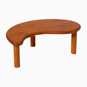 Table basse de forme libre en pin massif