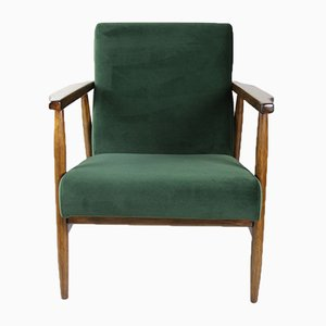 Vintage Green Olive Easy Chair, 1970s,