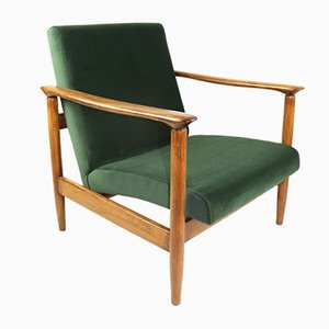 Green Olive GFM-142 Armchair by Edmund Homa, 1970s