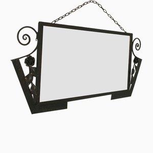 Art Deco Schmiedeeisenspiegel, 1920er Jahre