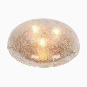 Dark Toned Murano Glass Ceiling Lamp from Kaiser Leuchten, Germany, 1970s