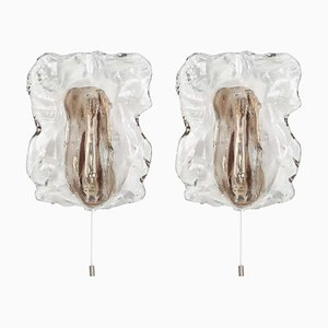 Murano Glass Sconces Wall Lights from Kalmar, Austria, 1960s, Set of 2