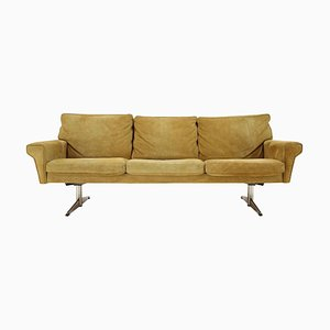 3-Seat Sofa in Suede Leather by Georg Thams, Denmark, 1970s