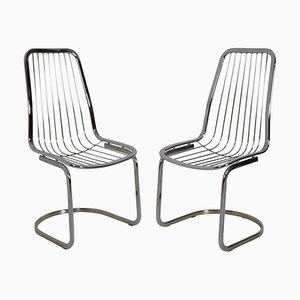 Mid-Century Chrome Chairs by Gastone Rinaldi, 1970s, Set of 2