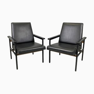 Vintage Adjustable Armchairs, Czechoslovakia, 1970s, Set of 2