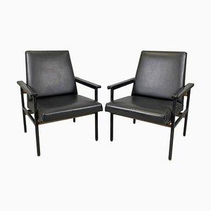 Vintage Adjustable Armchairs, Czechoslovakia, 1970s, Set of 2