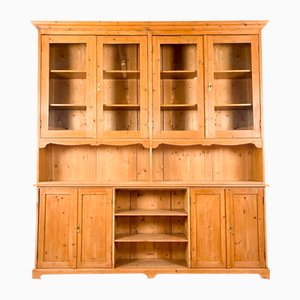 Large Pine Wooden Kitchen Display Cabinet