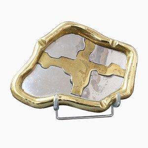 Vide-Poche ou Cendrier en Aluminium et Laiton attribué à David Marshall, 1980s
