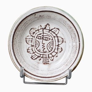 Vintage French Decorative Ceramic Bowl by Michel Barbier, 1960s