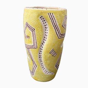 Italienische Keramikvase aus der Mitte des Jahrhunderts von Guido Gambone, 1950er Jahre