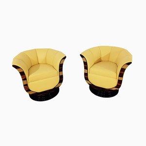 Art Deco Style Tulip Armchairs, Set of 2