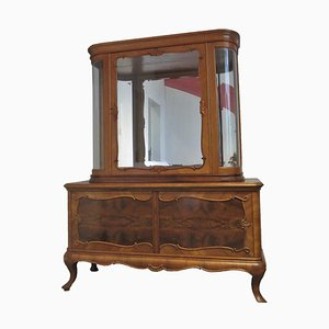 Antique Handmade Display Cabinet in Solid Wood