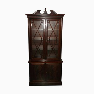 Antique Display Cabinet in Solid Mahogany