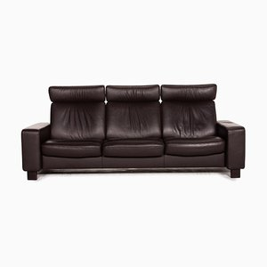 Arion Leather 3-Seat Sofa in Brown Dark from Stressless