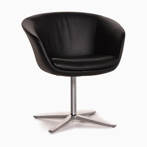 Black Leather Armchair by Walter Knoll
