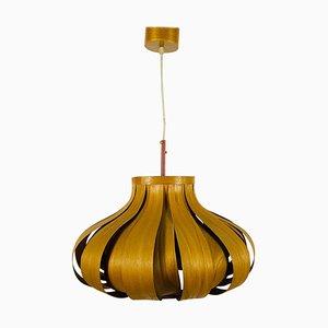 Mid-Century Wooden Pendant Lamp by Hans-Agne Jakobsson, Sweden, 1960s