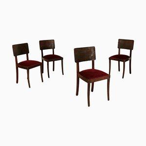 Sedie da pranzo, anni '40, set di 4