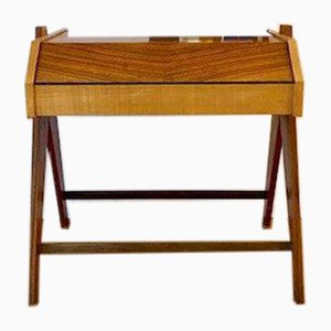 Piccola scatola da cucito Mid-Century in legno, anni '50