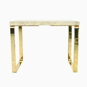 1062 Primus Travertine Side Table by Peter Draenert for Draenert