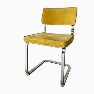 Cantilever Chair with Chrome Frame & Cord Cover