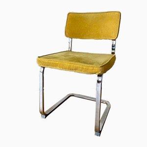 Chaise en porte-à-faux avec cadre chromé et cache-cordon