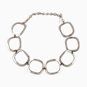 Ibe Dahlquist für Georg Jensen, Moderne Halskette aus Sterlingsilber