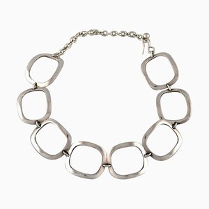 Ibe Dahlquist para Georg Jensen, collar modernista, plata esterlina