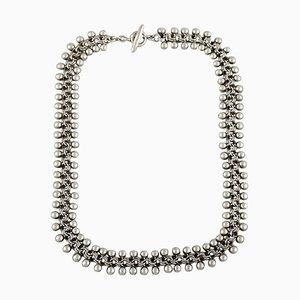 Hermann Siersbøl, Dänemark, Moderne Halskette aus Sterling Silber, Dänisches Design