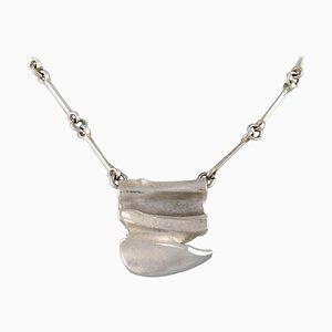 Lapponia, Finnland, modernistische Halskette aus Sterlingsilber mit Anhänger