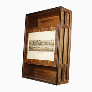 Recessed Mobile Cabinet with Door, Calatoia, 1940s