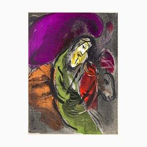 Marc Chagall - Illustrations de Jérémie pour la Bible - Lithographie originale - 1956