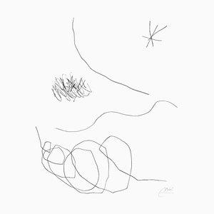 Joan Miró - Diario de un escritor - Vol. Lámina 2 13 - Grabado original - 1975