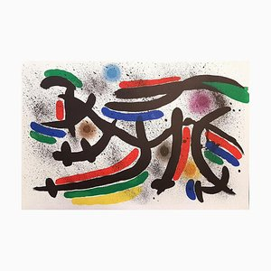 Joan Miró - Miró Lithographe I - Plancha IX - Litografía original - 1972