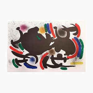 Litografia originale - 1972 Litografia Joan Miró - Miró Lithographe I - Plate VII