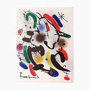 Joan Miró - Miró Lithographe I - Plancha VI - Litografía original - 1972