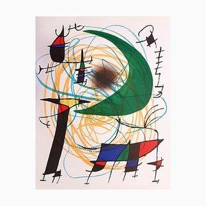 Joan Miró - Miró Lithographe I - Plancha V - Litografía original - 1972