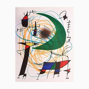 Litografia Joan Miró - Miró Lithographe I - Plate V - 1972