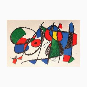 Joan Miró - Miró Lithographe II - Plancha VIII - Litografía original - 1975