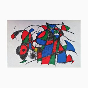Joan Miró - Miró Lithographe II - Planche III - Lithographie originale - 1975