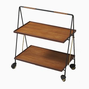 Folding Service Trolley in Teak, 1950s