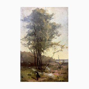 H. Ribas, Französische Schule, Walk Blois Drill, 1900, Öl auf Holzplatte