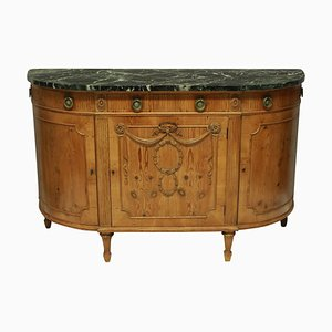 Louis XVI Style Pine Half Moon Chest