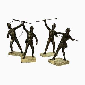 Antike griechische & trojanische Krieger, 4er-Set