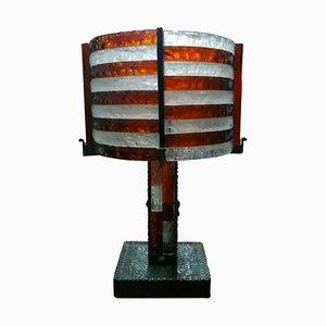 Lampada da tavolo in vetro di Murano di Poliarte, anni '70