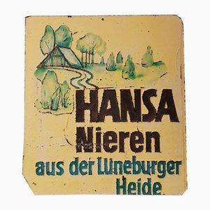 Vintage Werbeschild, 1960er Jahre